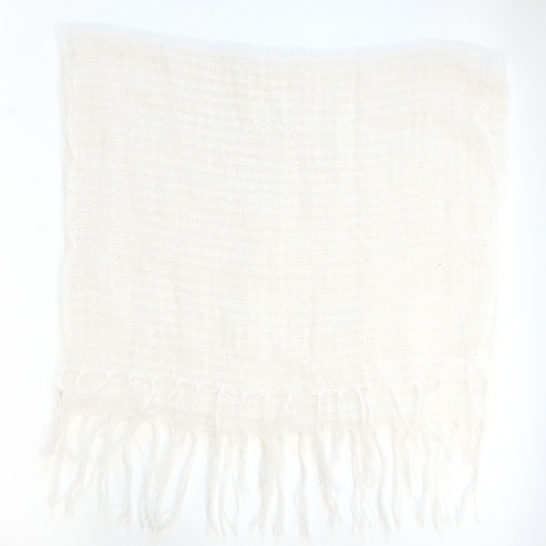 White Netted Large Scarf