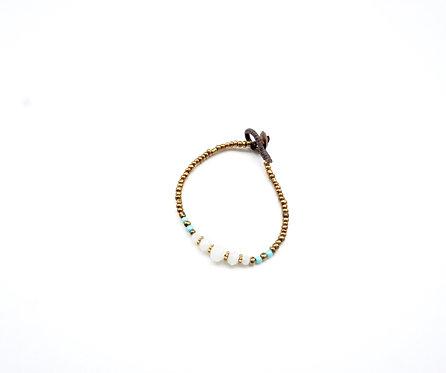 Bronze & Turquoise Beaded Bracelet