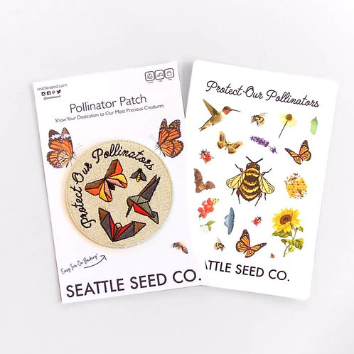 Pollinator Pride Patch & Sticker Set
