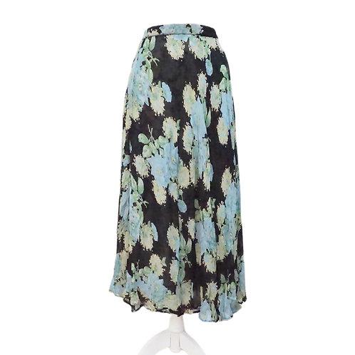 Reversible Black & Green Long Skirt