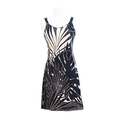 Black & Tan Tropical Mini Dress