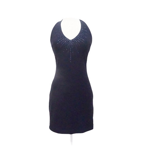 Blue Halter Mini Dress