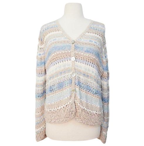 Blue & Beige Knit Sweater