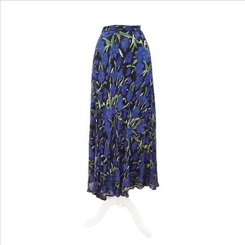 Reversible Black & Blue Long Skirt