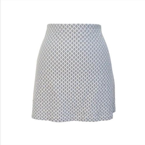 Silver Stretch Mini Skirt