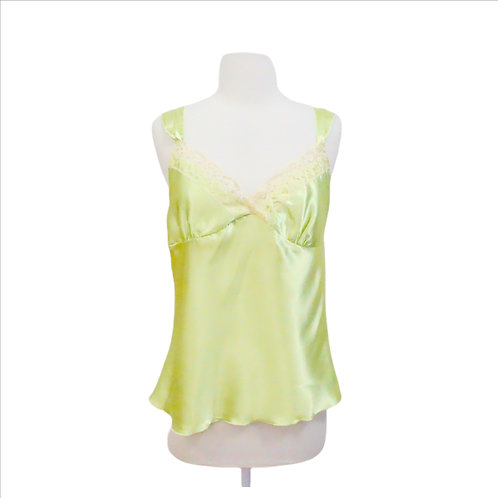 Lime Green Silky Tank Top