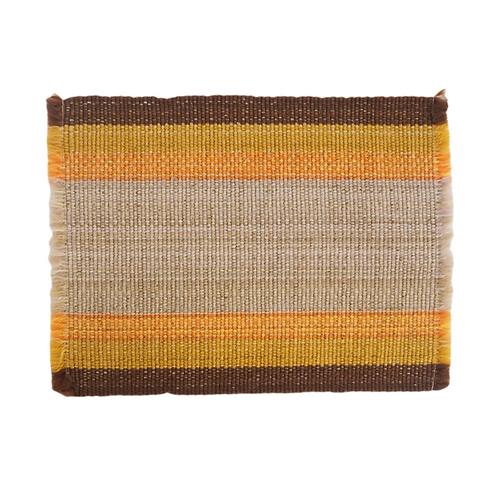 Golden Tan Woven Placemat Set (4)