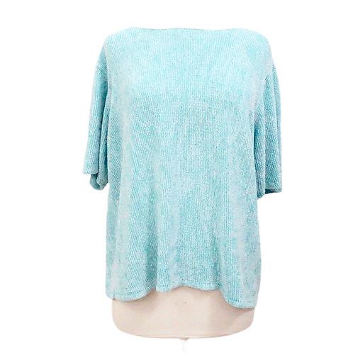 Aqua Blue Chenille Sweater