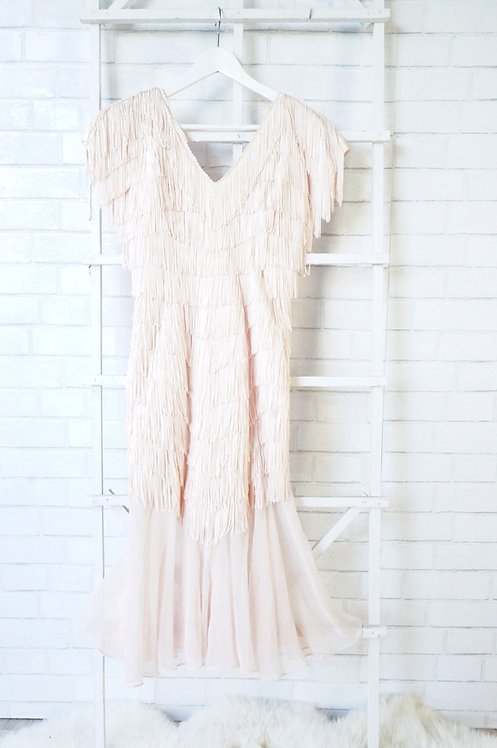 Peach Fringe Dress