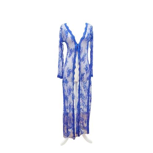 Blue Lace Long Robe