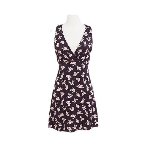 Burgundy Floral Mini Dress