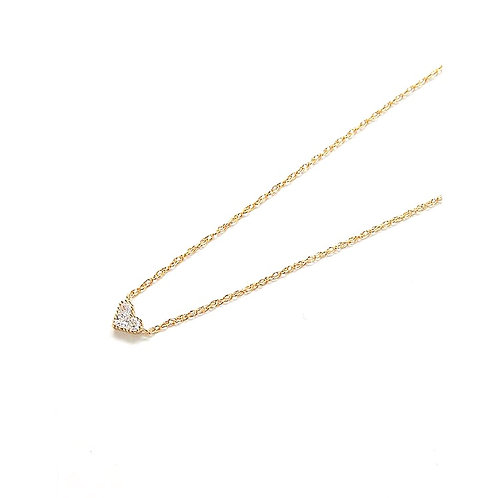 Gold Pave Heart Necklace