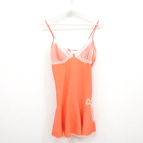 Coral Slip with Lace