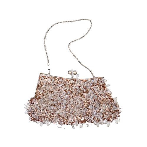 Copper & Clear Beaded Handbag