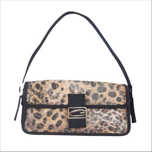 Holographic Leopard Print Shoulder Bag