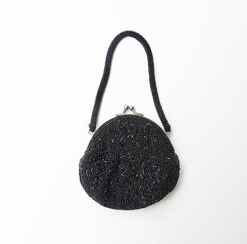 Beaded Black Mini Clutch