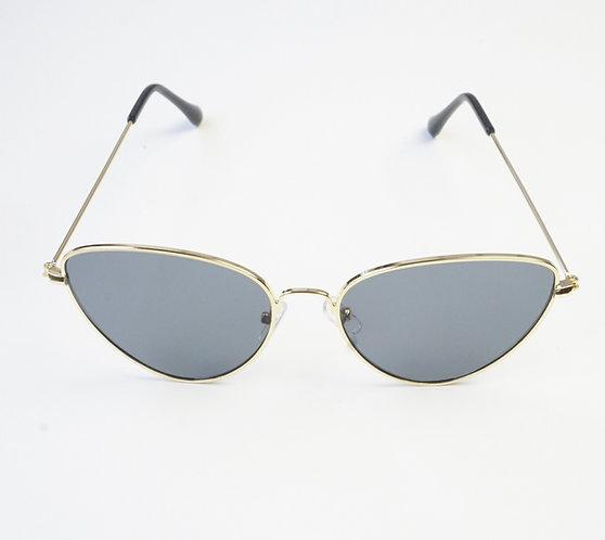 Grey & Gold Metal Cat Eye Sunnies