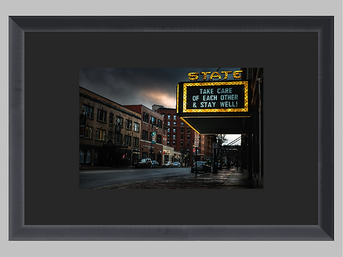 """*Special Edition Framed """"State Theater"""" *Benefits The Maine Music Alliance"""