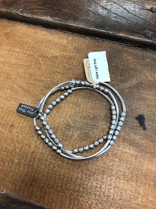 Cecelia Triple Wrap Silver Bracelet