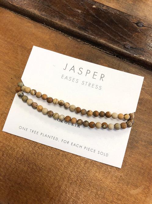 Cecelia Jasper Gemstone Double Wrap Bracelet