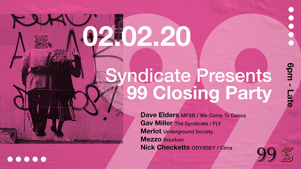 SYNDICATE 99 CLOSING PARTY FACEBOOK COVE