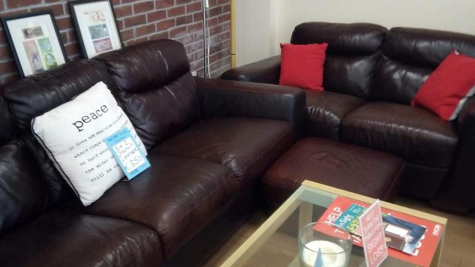 Leather 3 & 2 Seater Sofa