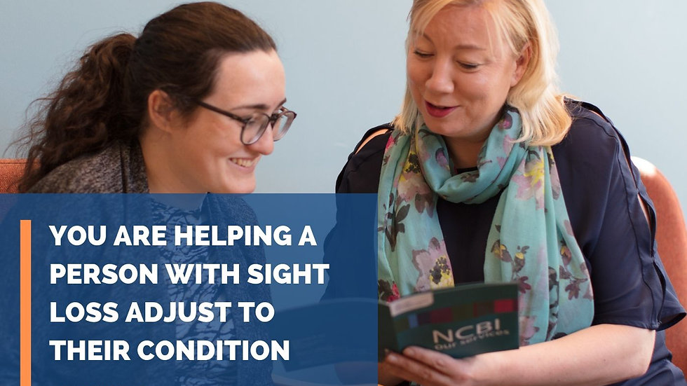 Support NCBI's Emotional Support Programmes