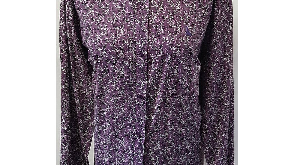 HAWKSHEAD - SIZE: 18 - PURPLE - LONG SLEEVED SHIRT