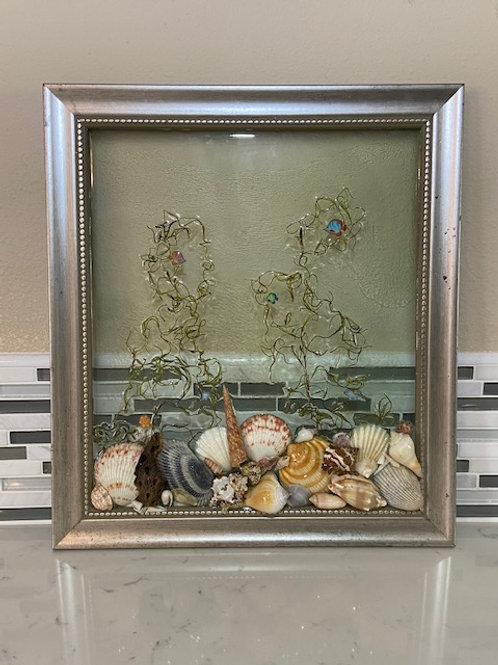Shell Frame with Fish