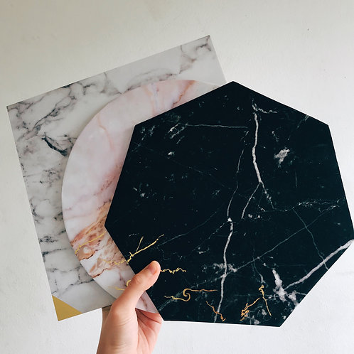25 x DISPOSABLE MARBLE BOARDS
