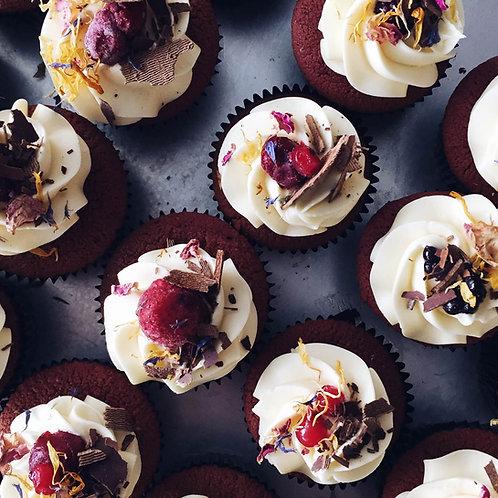 12 x Raspberry Red Velvet Cupcakes