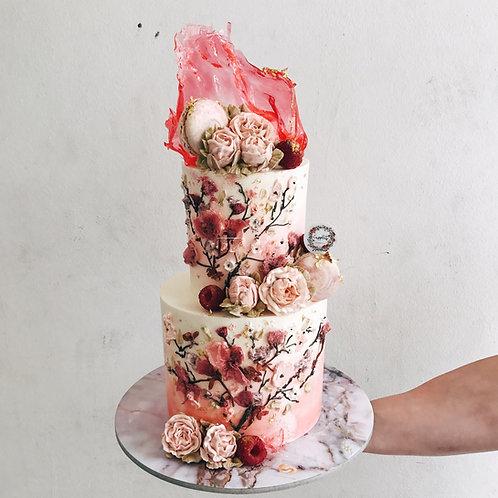 2-Tier Sakura Cake