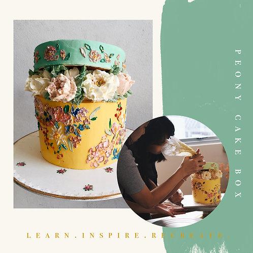 PEONY BOX CAKE (INTERMEDIATE)