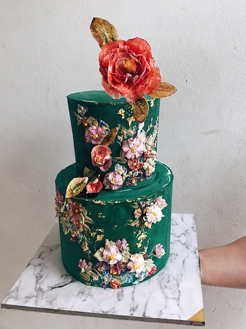 2-tier Emerald in Blossom