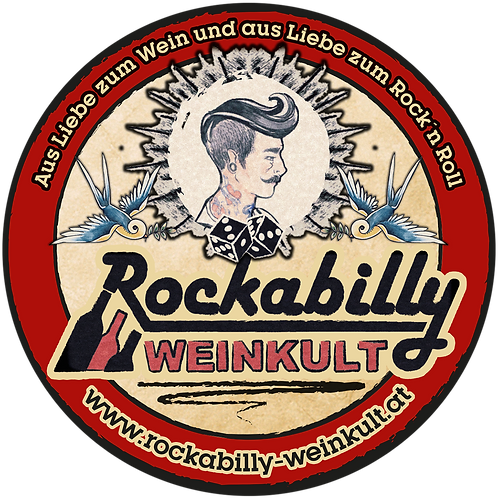 "Sticker ""ROCKABILLY WEINKULT"""