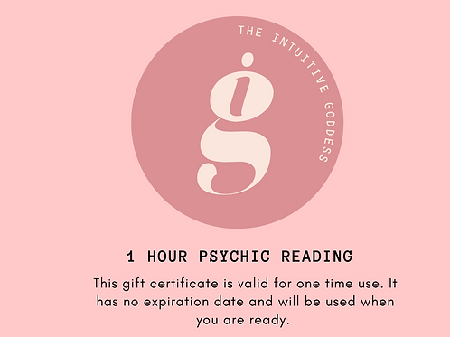 Gift Certificate - 1 hour psychic reading