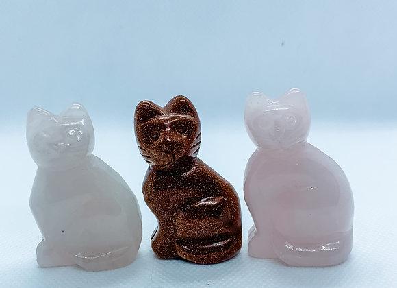 Cat Crystal Figurine
