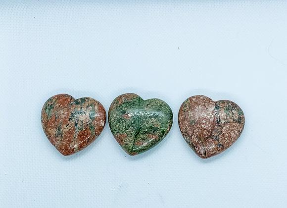Ruby Zoisite Heart