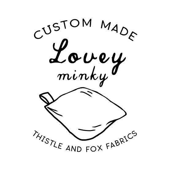 CUSTOM Minky Lovey Blankets for Baby with satin loop
