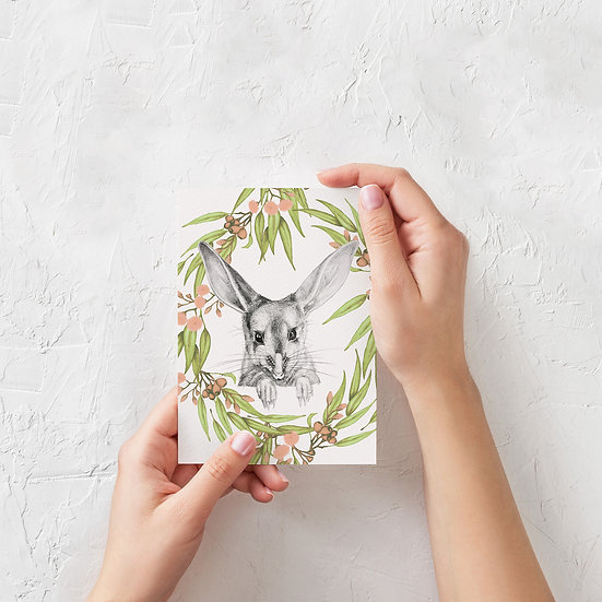 Greeting Card | Bilby and Gum Leaves
