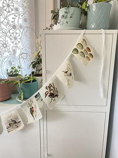 Australiana bunting flags, linen wall hanging for nursery