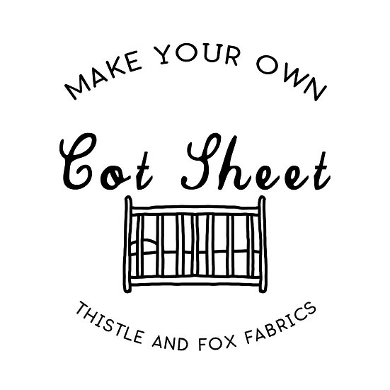 Make Your Own COT SHEET, Fabric Printed in Australia