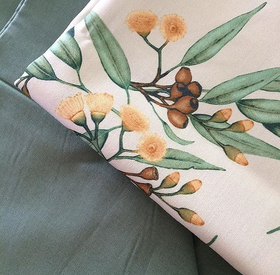 Eucalyptus Fabric by the Metre, Choose Colour, Printed in Austr