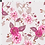 Thumbnail: Chinoserie Rose Floral Fabric, Bright Pink, Smokey Lilac & Vanilla