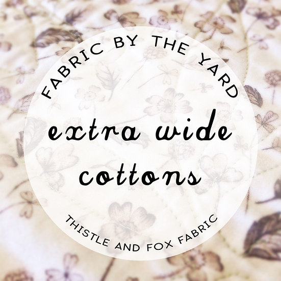 Extra WIDE Fabrics by the yard, Request ANY Design, 100% Cotton