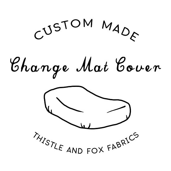 Custom Made Change Mat Cover to fit ANY Shape Mattress | Made to Order