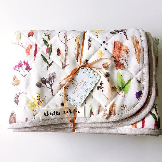 Australian Bushland Square or Circle Extra Large Play Mat, Linen Cotton