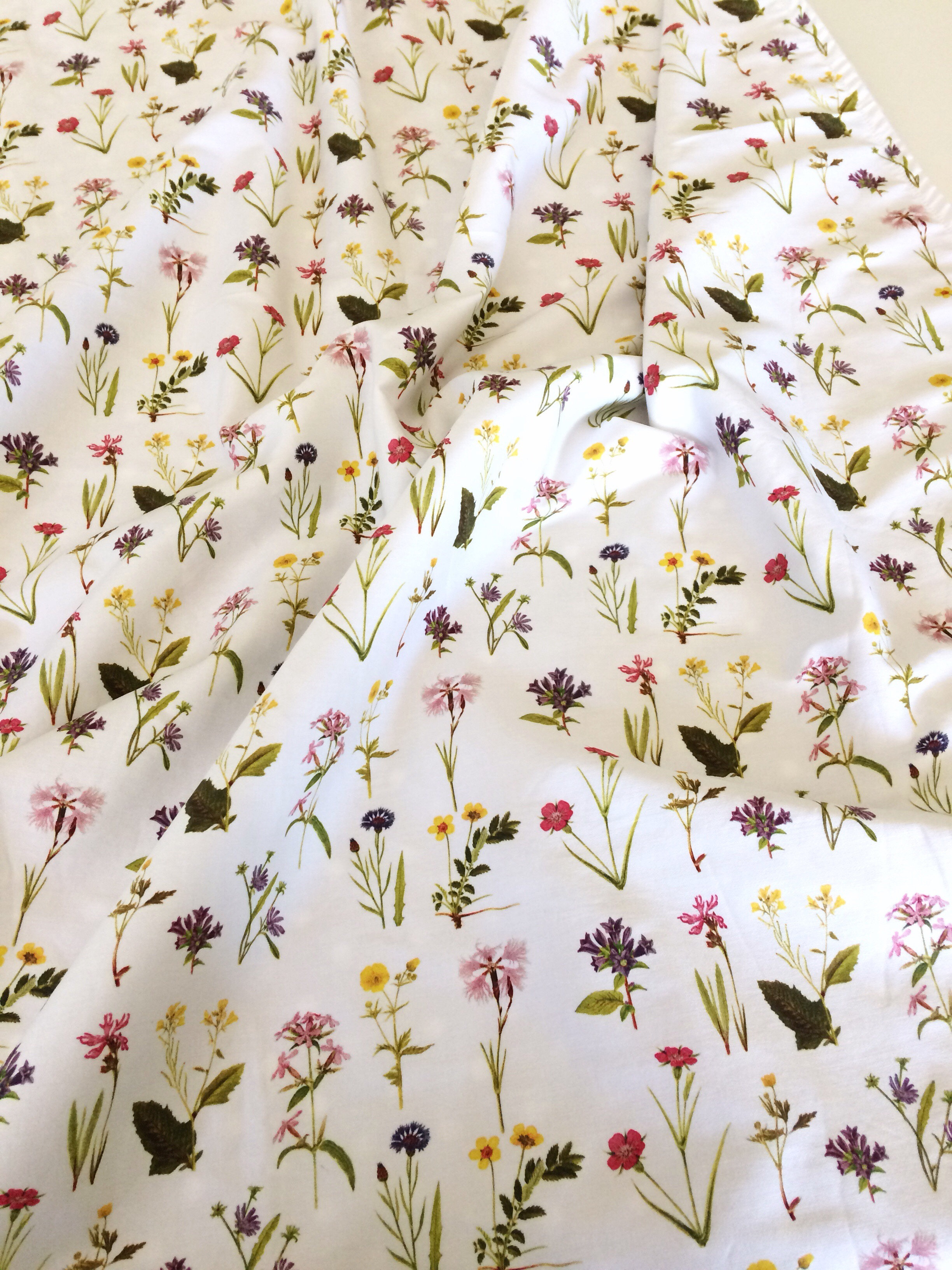 Organic Cotton Sateen, Minky Baby Blanket - Wildflowers | Ready to Ship