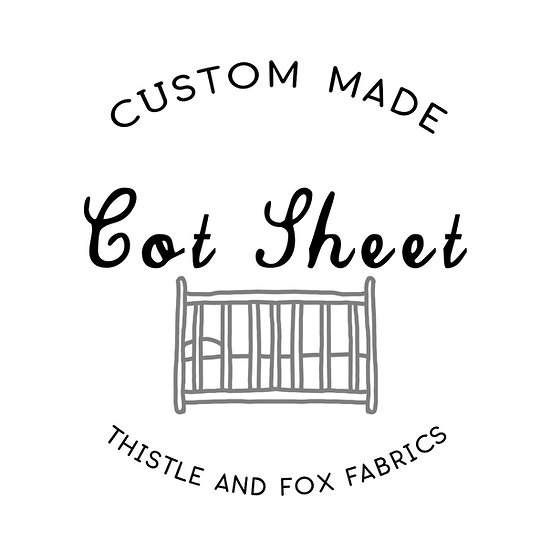 Custom Made Cot Sheets | Made to Order Fitted or Flat Sheet
