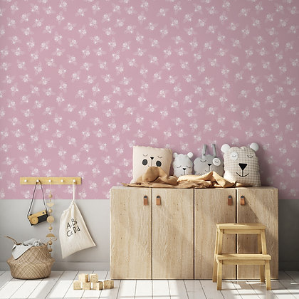 Ditsy Bee Pink Drawer Liner or Wallpaper, Peel & Stick or Water Activated